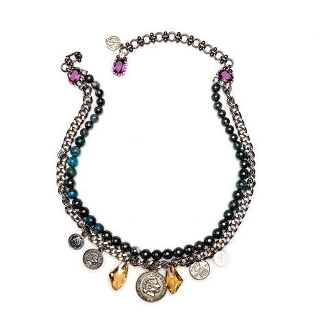 LE Collection by BaroQco Short Necklace Coin