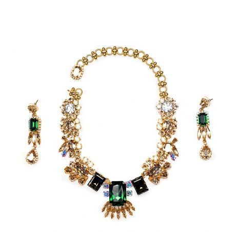 LE Collection by BaroQco Set Emerald Stud
